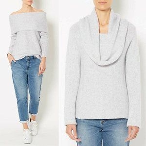 Witchery Grey Fold Over Knit Jumper Size XL